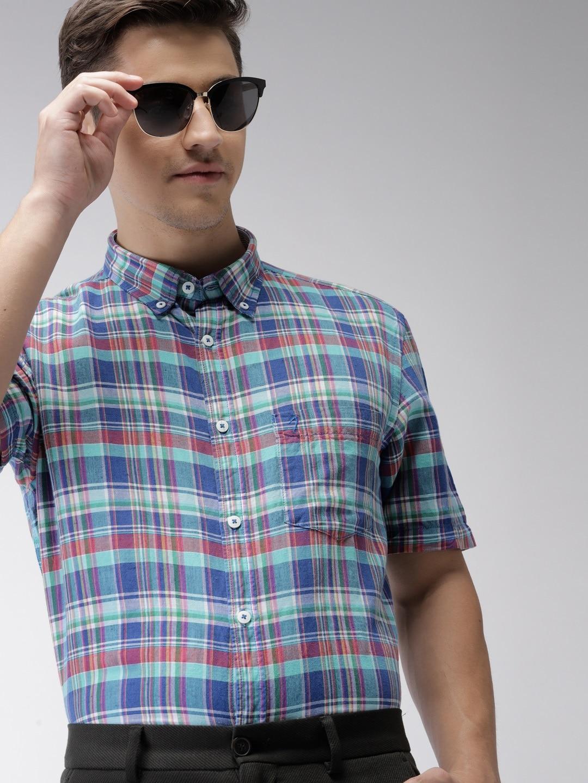 fdd3dc62e06 Men Check Shirts - Buy Men Check Shirts online in India