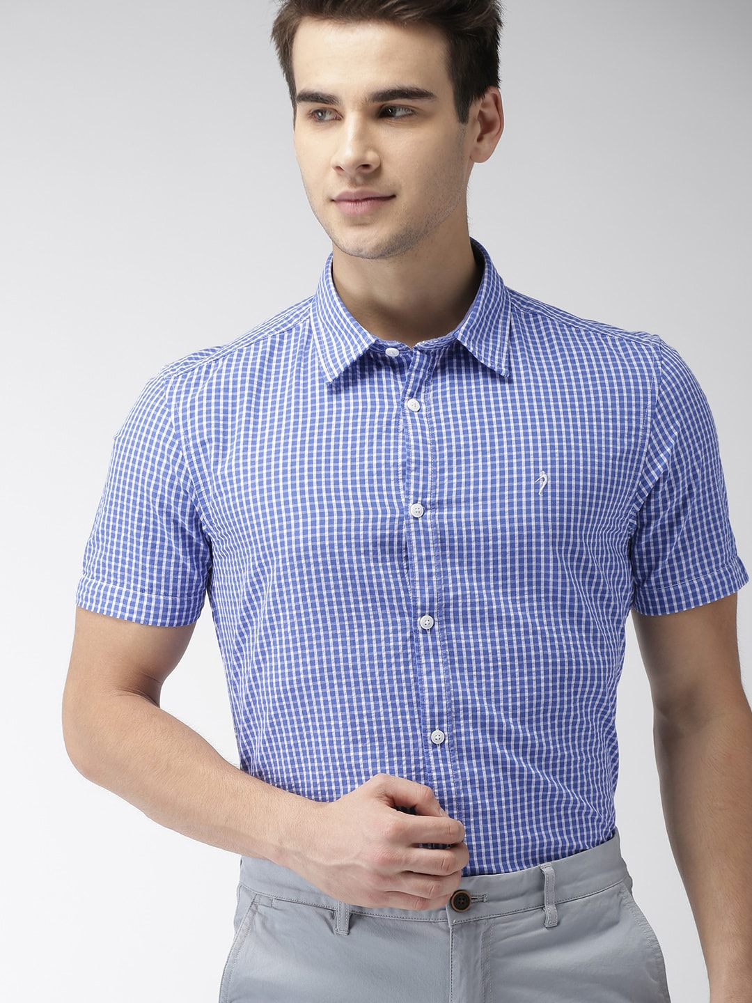 0873a9276a Short Sleeve Shirts - Buy Short Sleeve Shirts Online in India