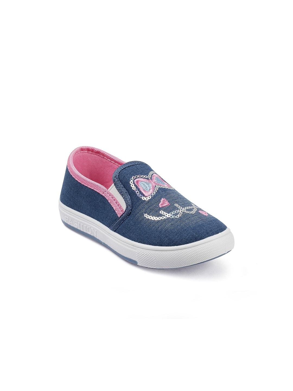 On Slip Girls Sneakers Kittens Blue T1uKlc3FJ