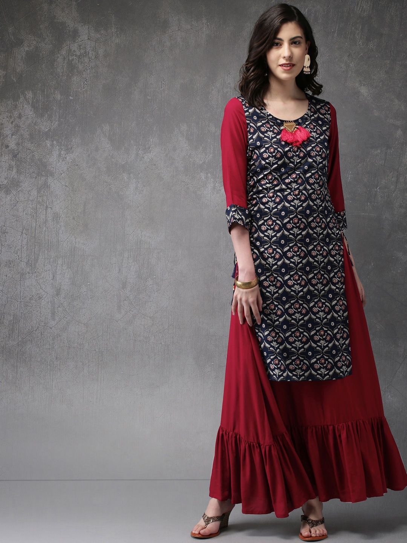 89e42901426 Layered Kurtas - Buy Layered Kurtas online in India