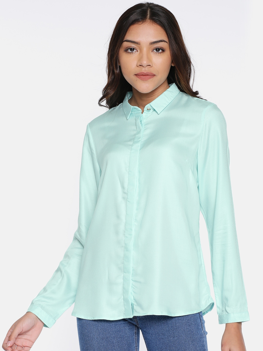 d7ebde0b65d8 Sea Green Shirts - Buy Sea Green Shirts online in India