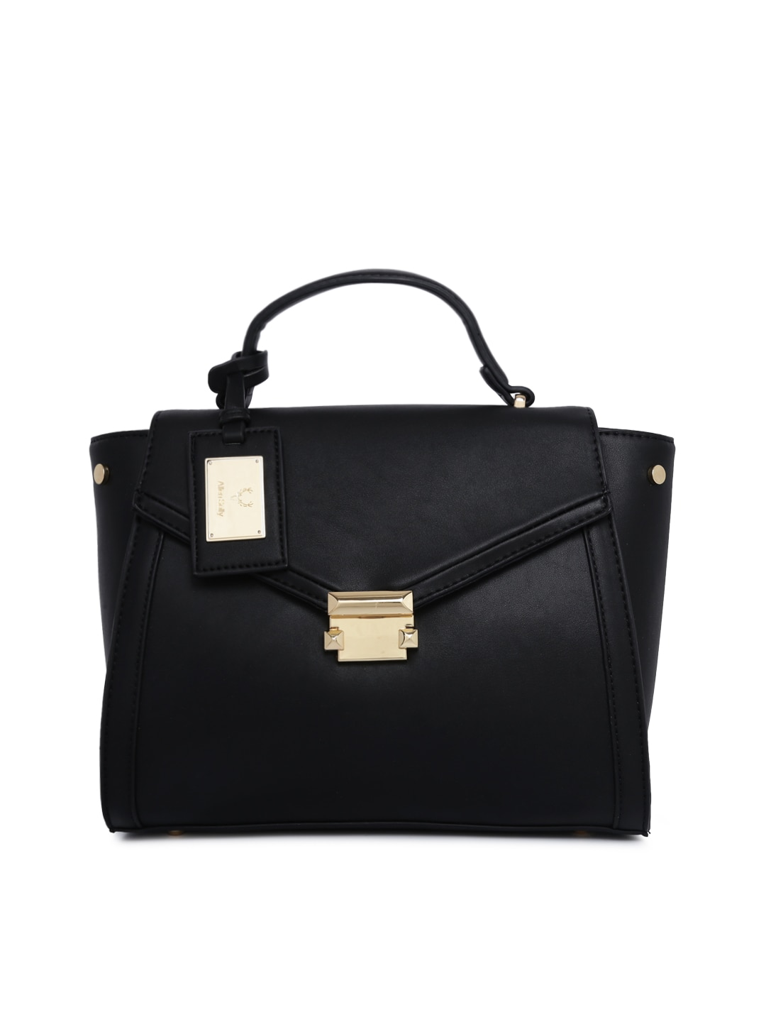 0443cb87f7be Allen Solly Black Solid Satchel