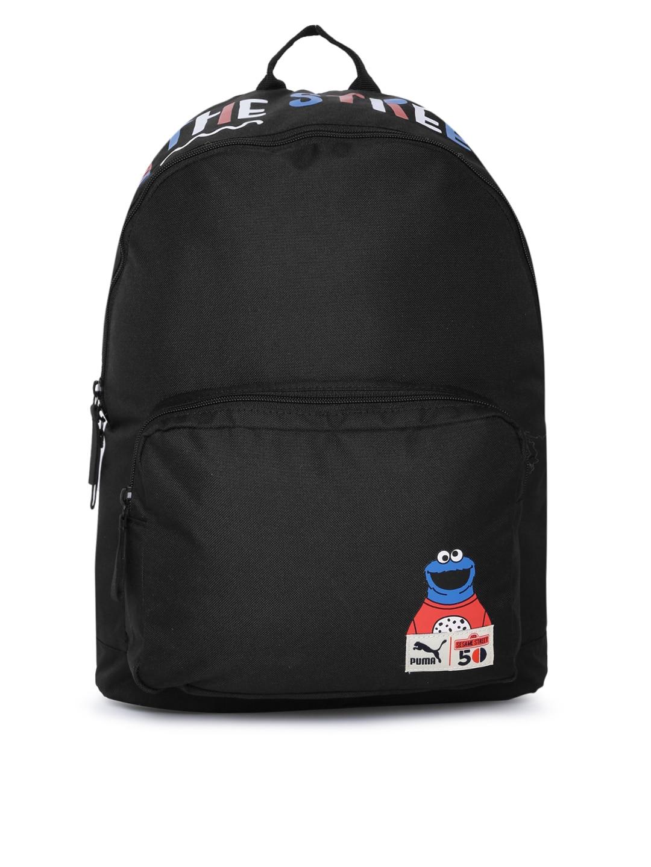 Puma Unisex Black Sesame Street Printed Sport Backpack