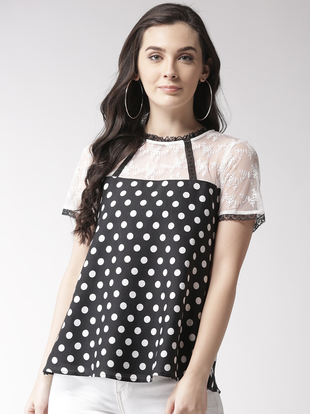 718b409d74d6ca Polka Dot Tops - Buy Polka Dot Tops online in India