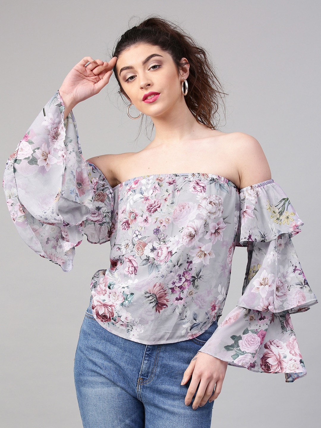 d9a36aa3ecf329 Floral Print Tops - Buy Floral Print Tops online in India