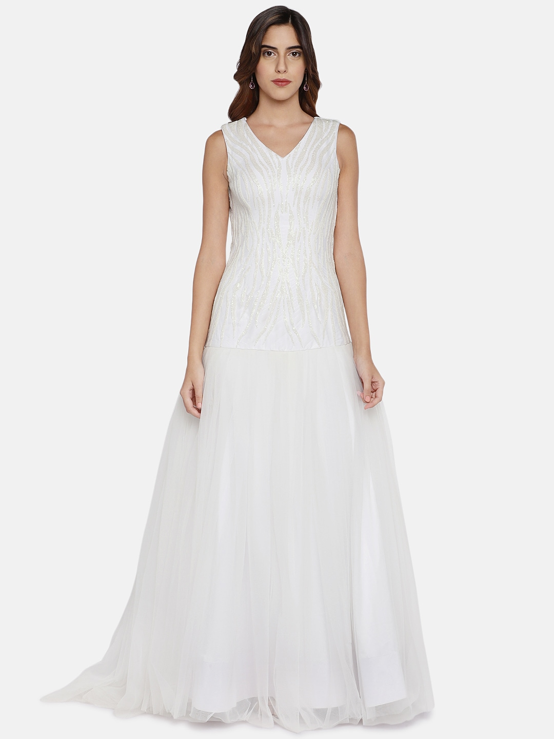 54912cb0e76 White Party Dresses - Buy White Party Dresses online in India