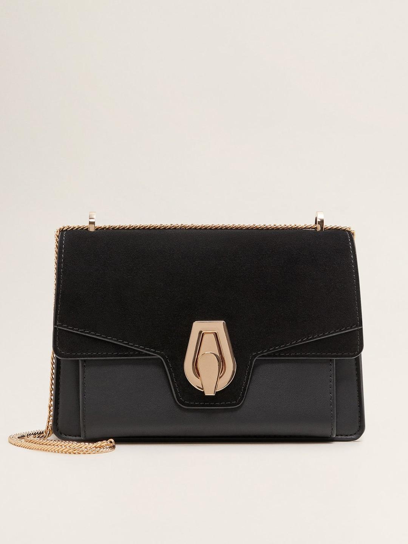 db63b33128 MANGO Black Solid Sling Bag