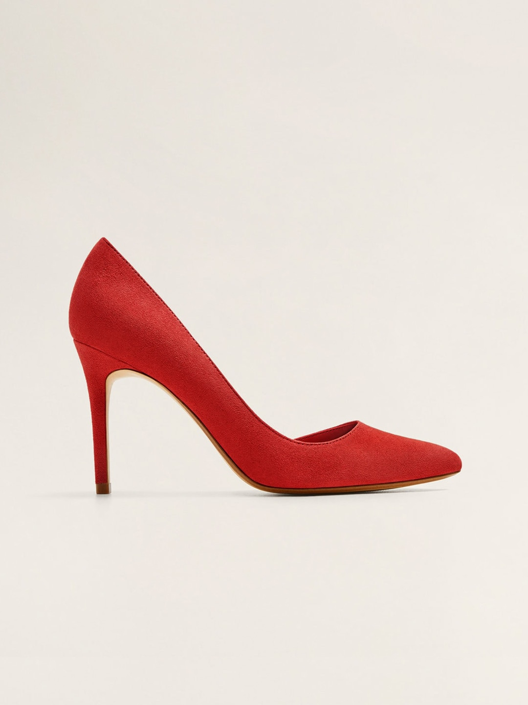 97f54383660 MANGO Women Red Solid Pumps