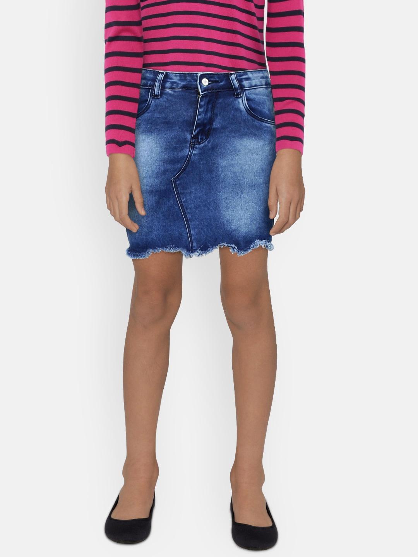 833f6e7730 High Waisted Denim Skirt H And M