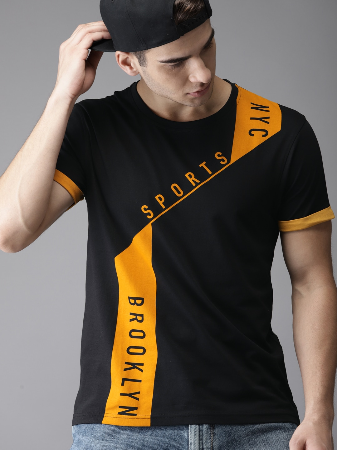36de25986e01 Men T-shirts - Buy T-shirt for Men Online in India