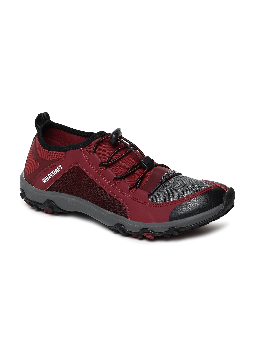 Wildcraft Men Bedros Maroon & Grey Trekking Shoes