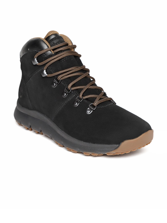 f397825d35b Timberland Men Black World Hiker Mid Leather Boots