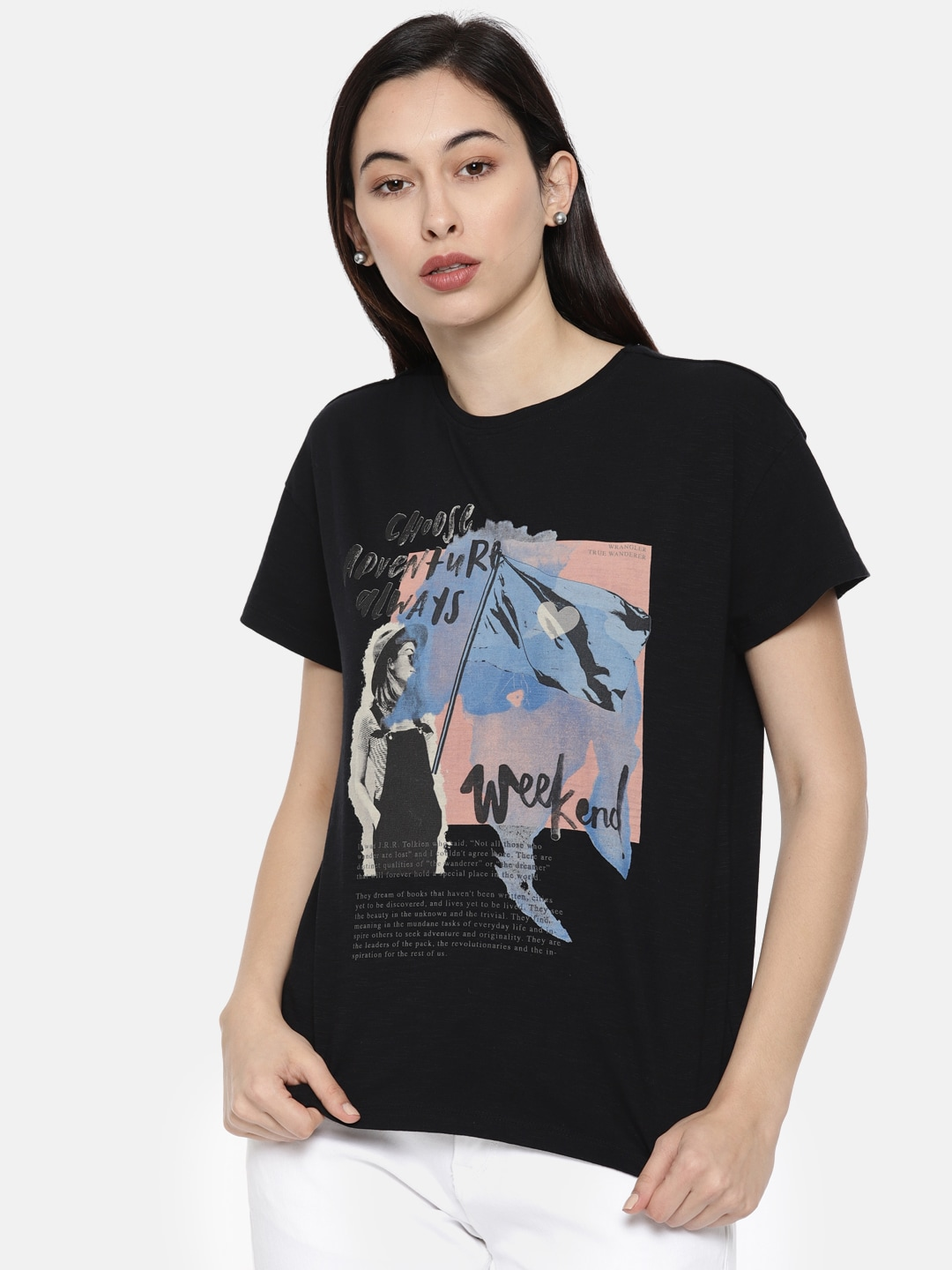 98a725dab Graphic Tshirts For Women - Buy Graphic Tshirts For Women online in India