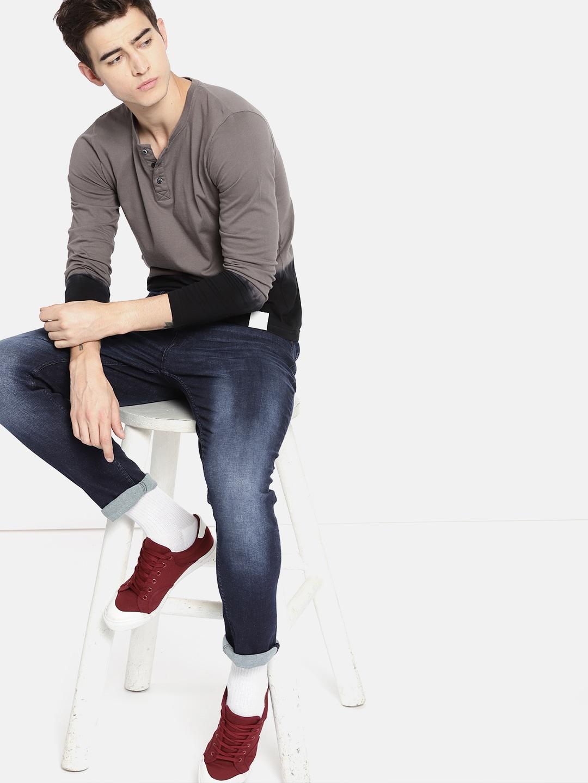 SINGLE Men Blue Slim Fit Mid-Rise Clean Look Stretchable Jeans