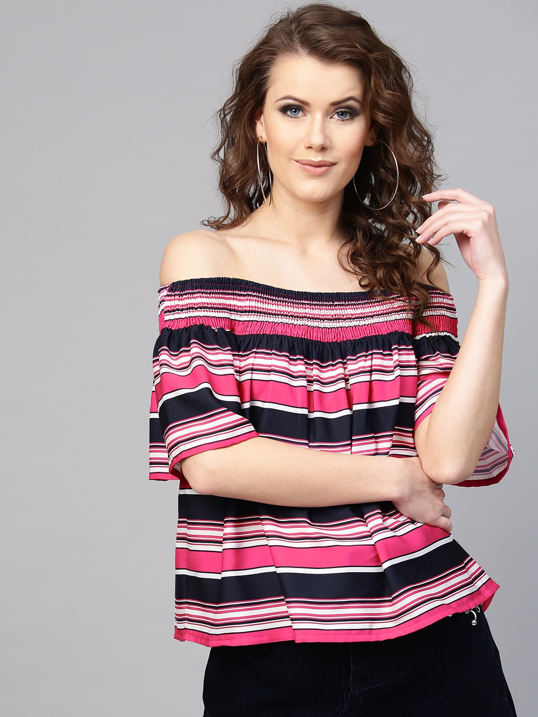 824aef90d5d0 Off Shoulder Tops - Buy Off Shoulder Tops Online in India