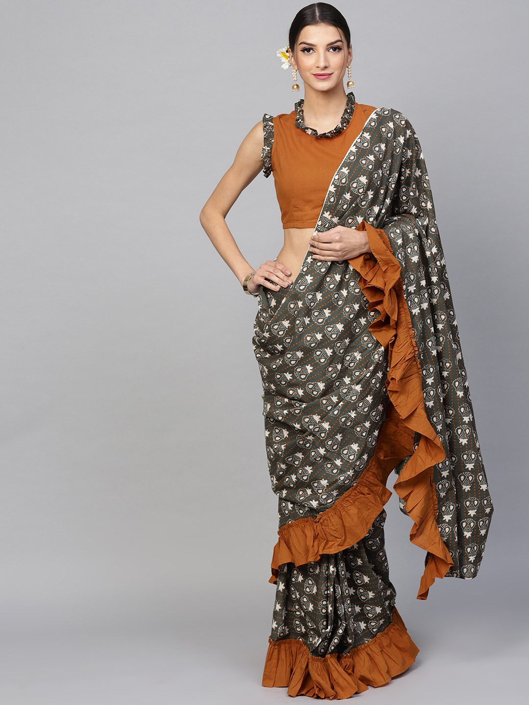 57011c5d0d6 Stitched Saree - Buy Pre-Stitched Sarees Online in India
