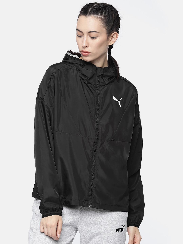 45c2cb50 Puma Women Black Solid Windcape Water repellent Sporty Jacket