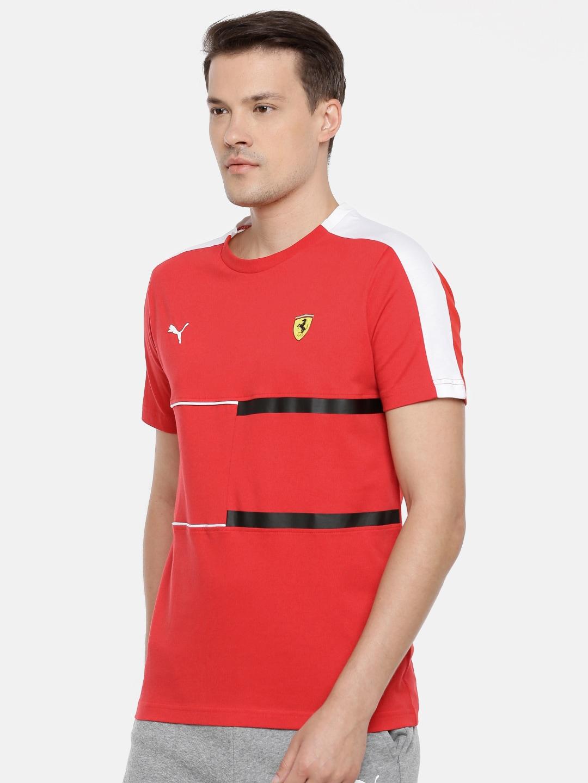 Drycell Red Corsa Sf Men Shirt T7 Round Tee Rosso Puma T Neck 9H2eWEDIY