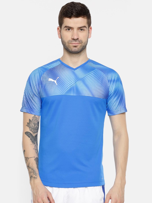 09a32f3c24b Puma Men Blue Shirts Tshirts Jersey - Buy Puma Men Blue Shirts Tshirts  Jersey online in India