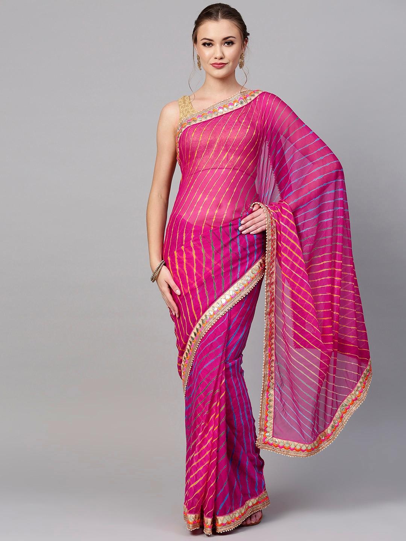 c6a2e3f7d Magenta Sarees - Buy Magenta Sarees online in India