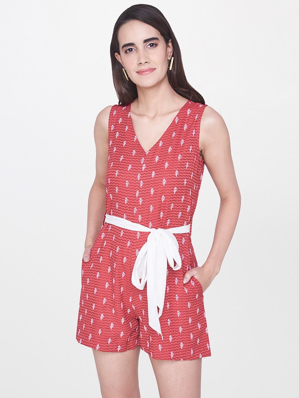 1cbda744fcb5 Red Leggings Jumpsuit - Buy Red Leggings Jumpsuit online in India