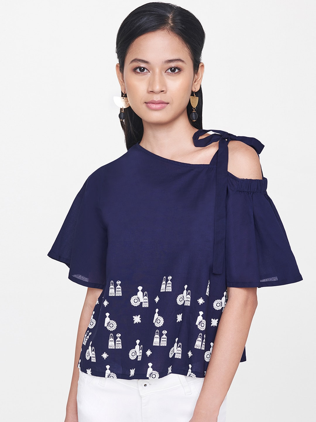 a1e40c902e724f One Shoulder Tops - Buy One Shoulder Tops Online in India