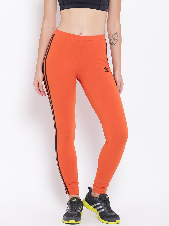 ADIDAS Originals Women Orange Solid Slim Fit Track Pants