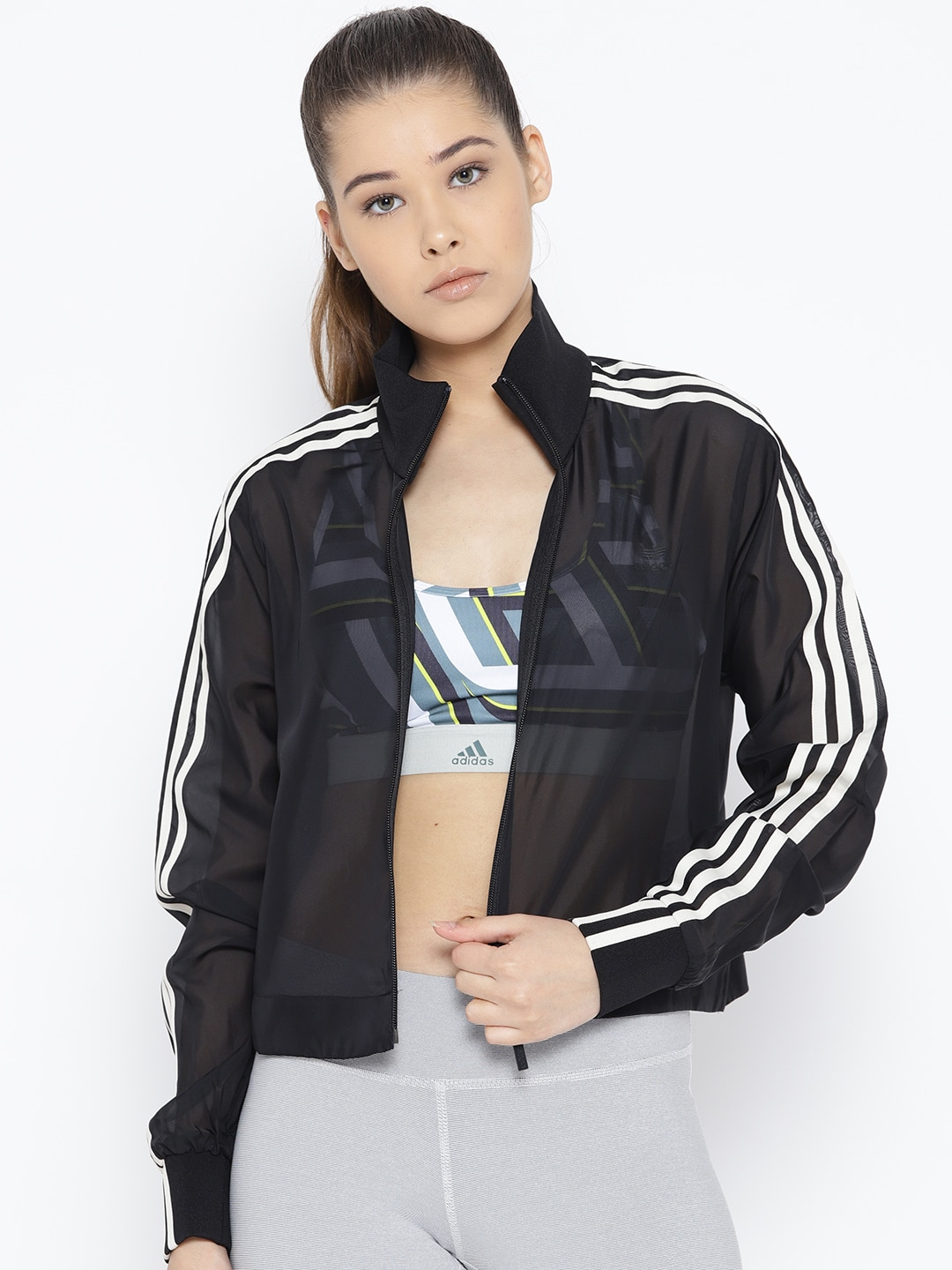 ADIDAS Originals Women Black Solid Track Jacket
