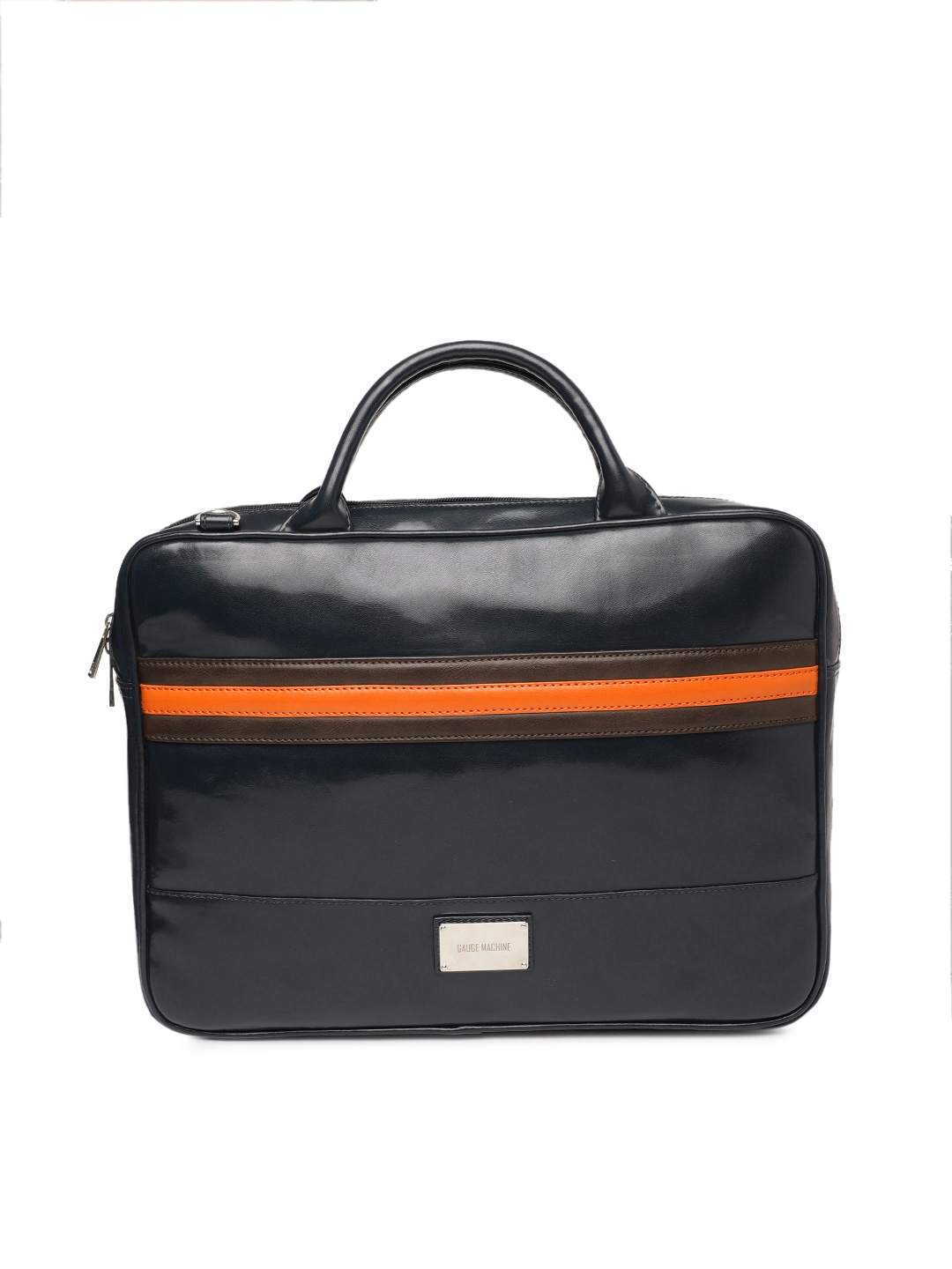 cee6cbe8004e Gauge Machine Unisex Navy Blue Solid Laptop Bag