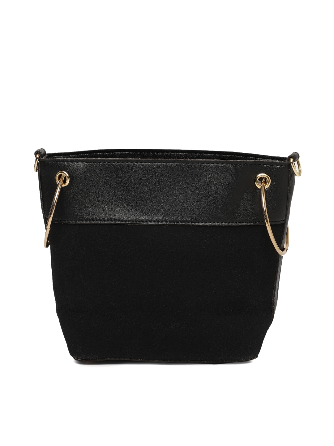 a584b93737 People Black Solid Sling Bag