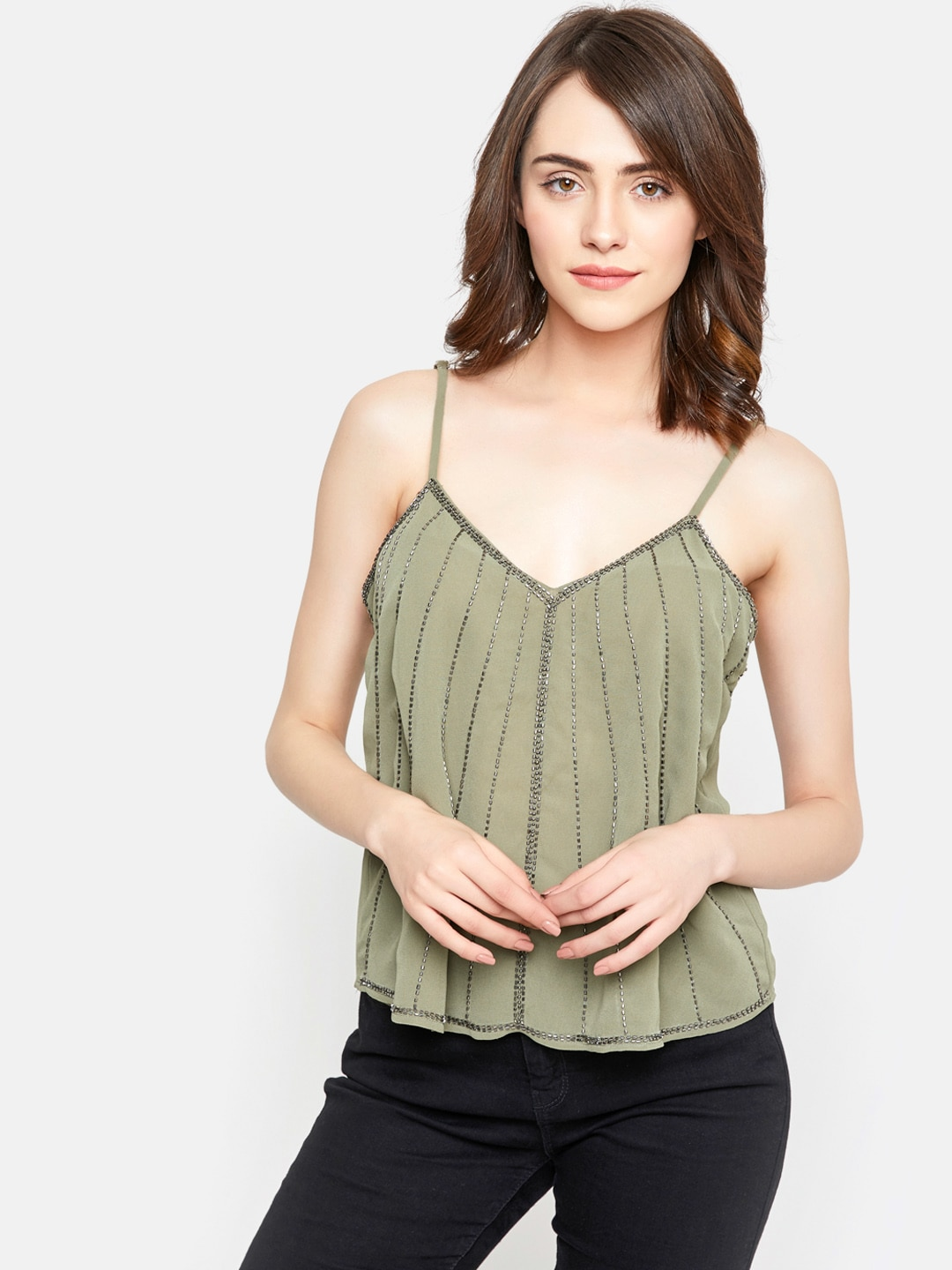 f53282f7a66 Olive Tops - Buy Olive Tops online in India