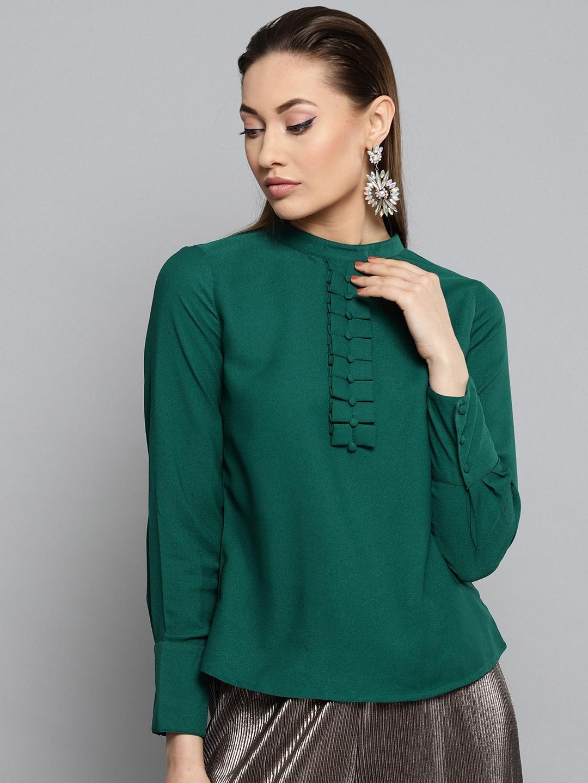cbbd264972f013 Women Green Tops - Buy Women Green Tops online in India