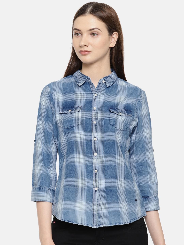 5df708f4a30 Women Shirts - Buy Shirts for Women Online in India