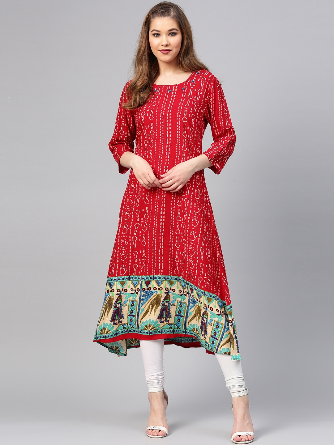 29d1d3ac39b Women Red Kurtas - Buy Women Red Kurtas online in India