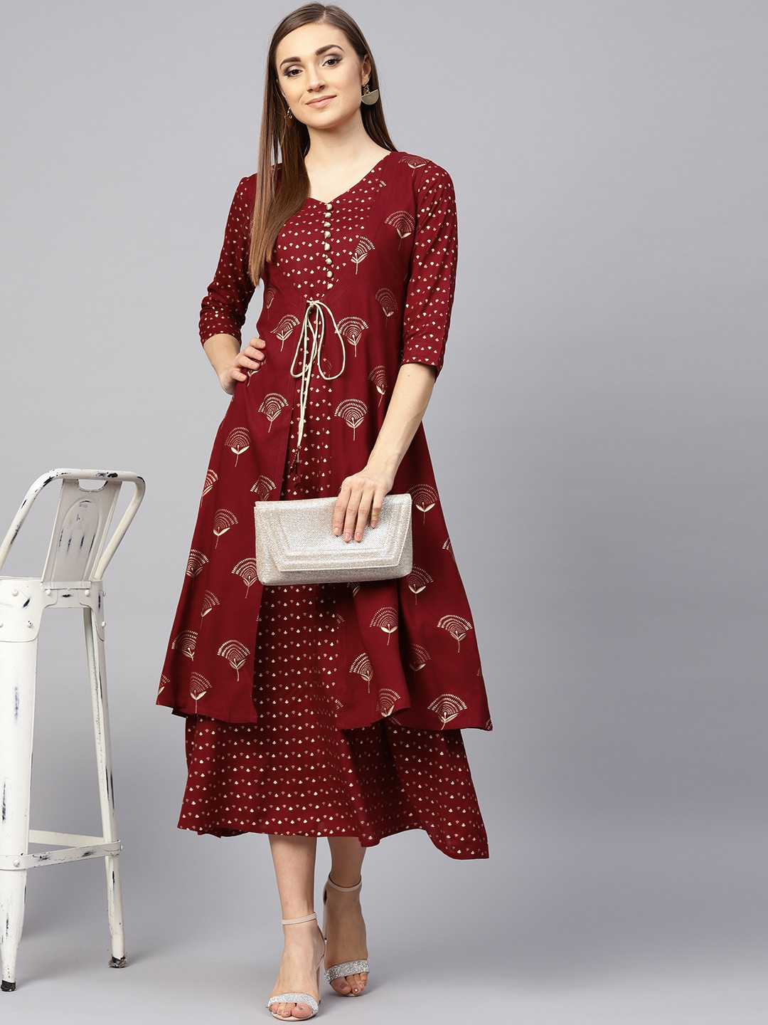 9e408184a3ee Three Quarter Sleeves Dresses - Buy Three Quarter Sleeves Dresses online in  India