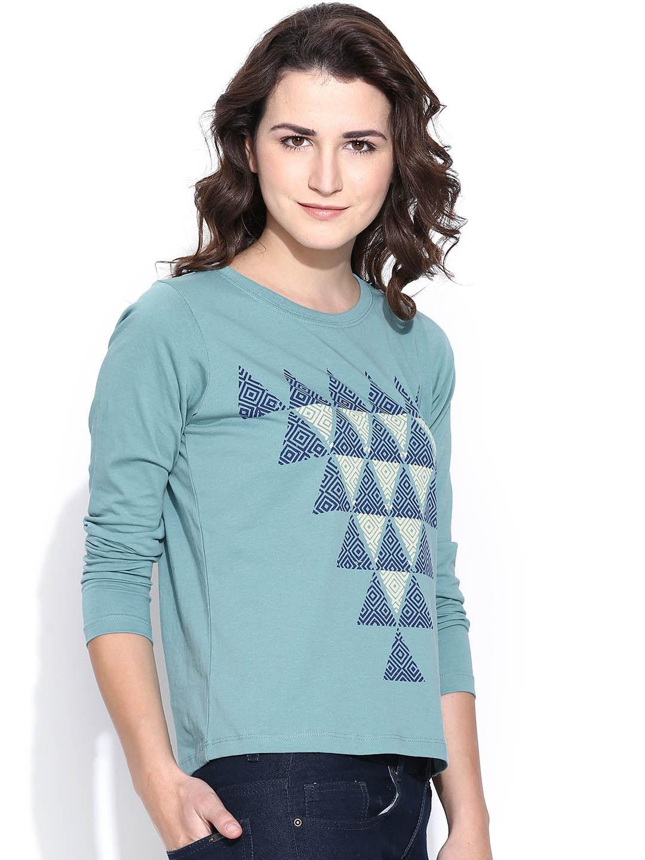 Design your t shirt myntra - Women Long Sleeve Tshirts Buy Full Sleeve Tshirts For Women Online Myntra
