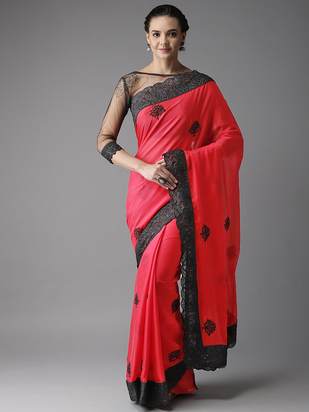 8e184a725d Vishal Embroidered Sarees - Buy Vishal Embroidered Sarees online in India