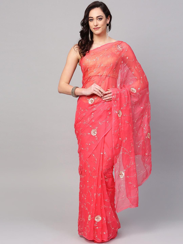 65e929875298a5 Chiffon Saree - Buy Elegant Chiffon Sarees online - Myntra