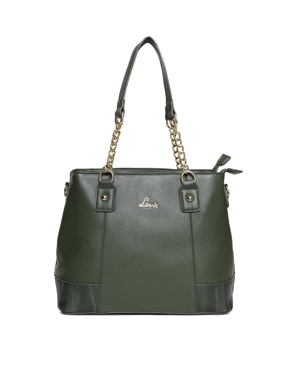 Lavie Green Solid Shoulder Bag