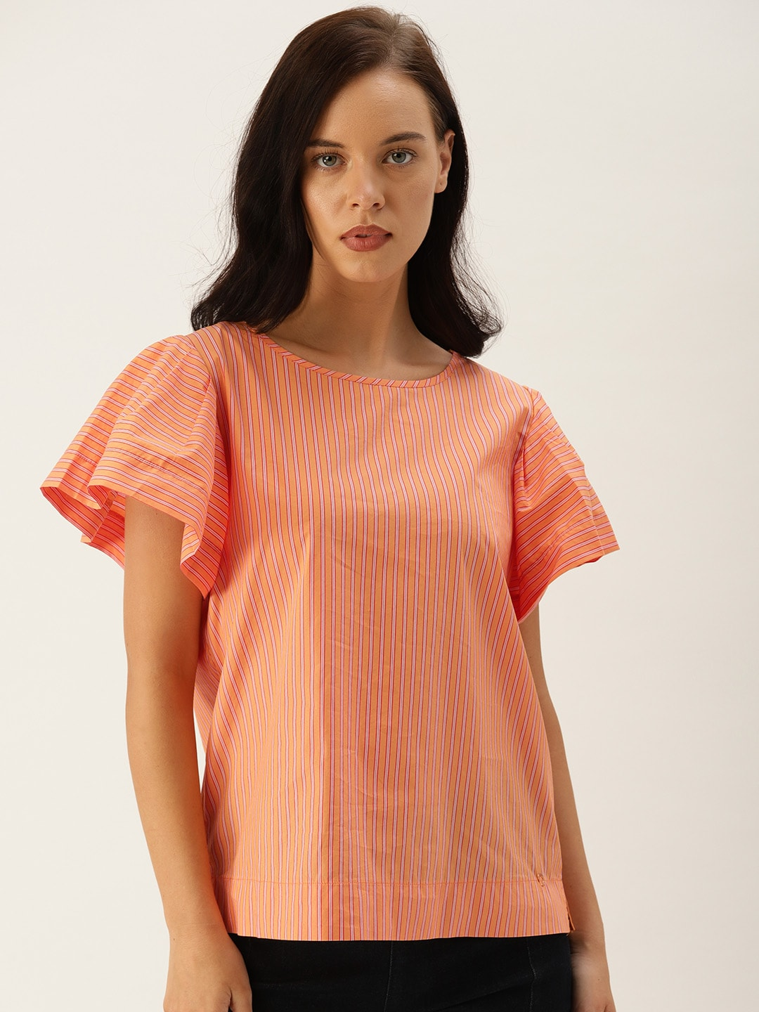 f140d9282a80a1 Striped Tops - Buy Trendy Striped Tops Online | Myntra