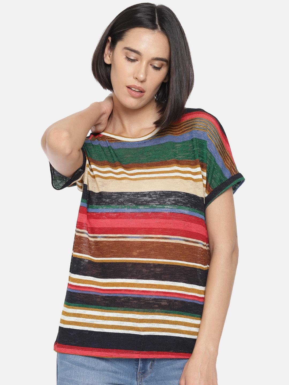 fdde0262e11c4 Women Striped Tops - Buy Women Striped Tops online in India