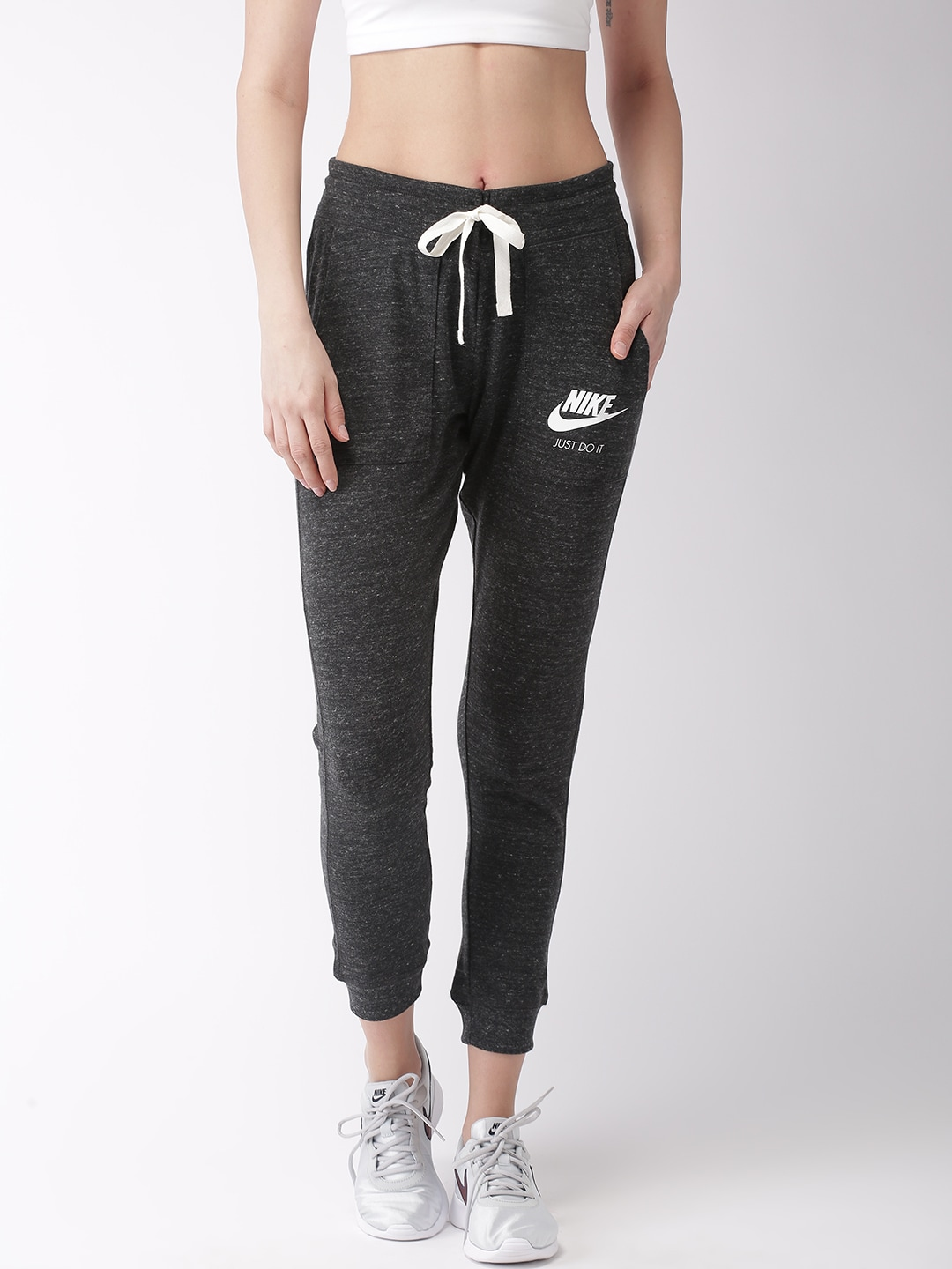 exquisite style authentic new specials Nike Women Black Standard Fit Gym Vntg Joggers