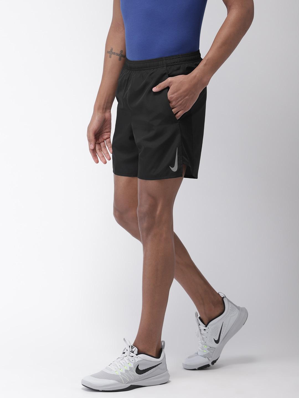 798d983518b Nike Men Black Solid Standard Fit AS CHLLGR 7IN BF DRI-FIT Running Shorts