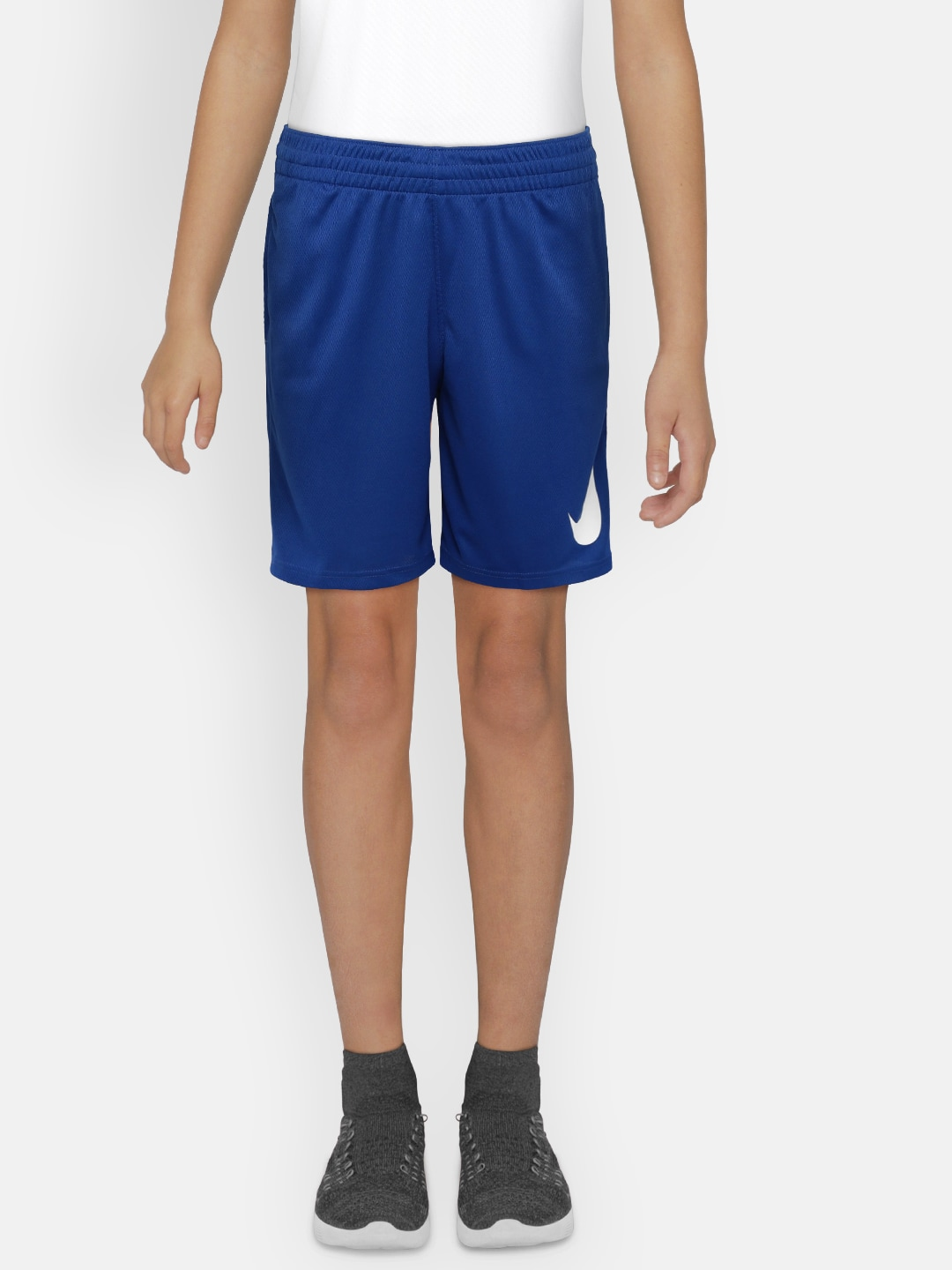 autumn shoes website for discount many fashionable Nike Boys Blue Solid DRY SHORT HBR Regular Shorts