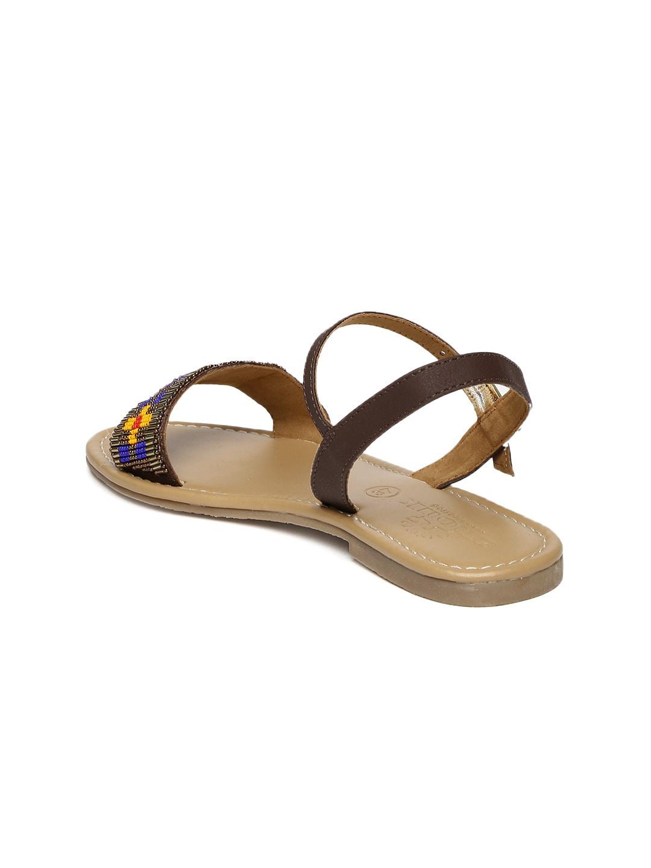 Anouk Women Brown Embellished Flats