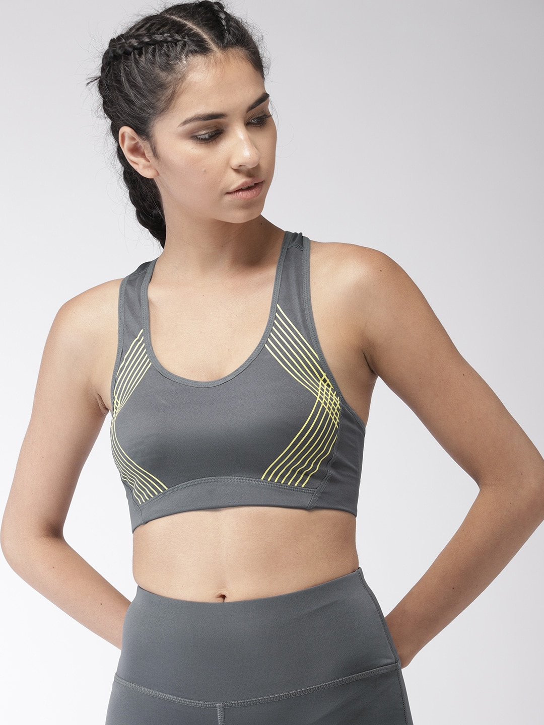 d0e168758fb 2GO Charcoal Grey Solid Non-Wired Heavily Padded Sports Bra EL-WSB325-S9