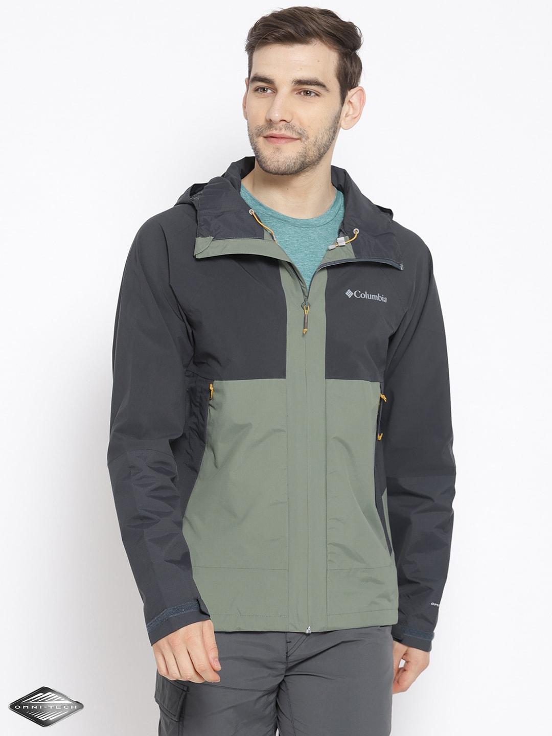 Charcoal Rain Greyamp; Waterproof Evolution Breathable Jacket Olive Green Valley Columbia L5A34Rj