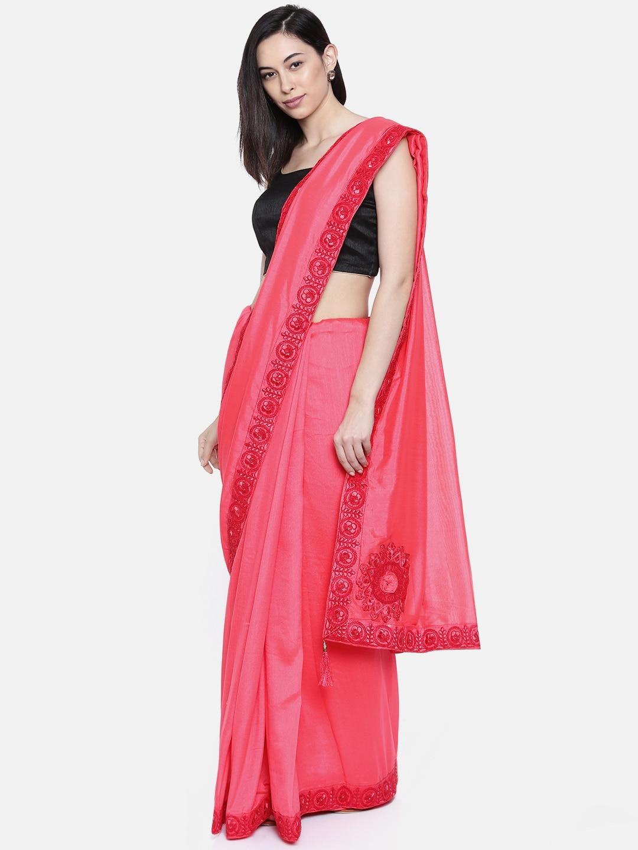 abe6b296280 Pink Saree