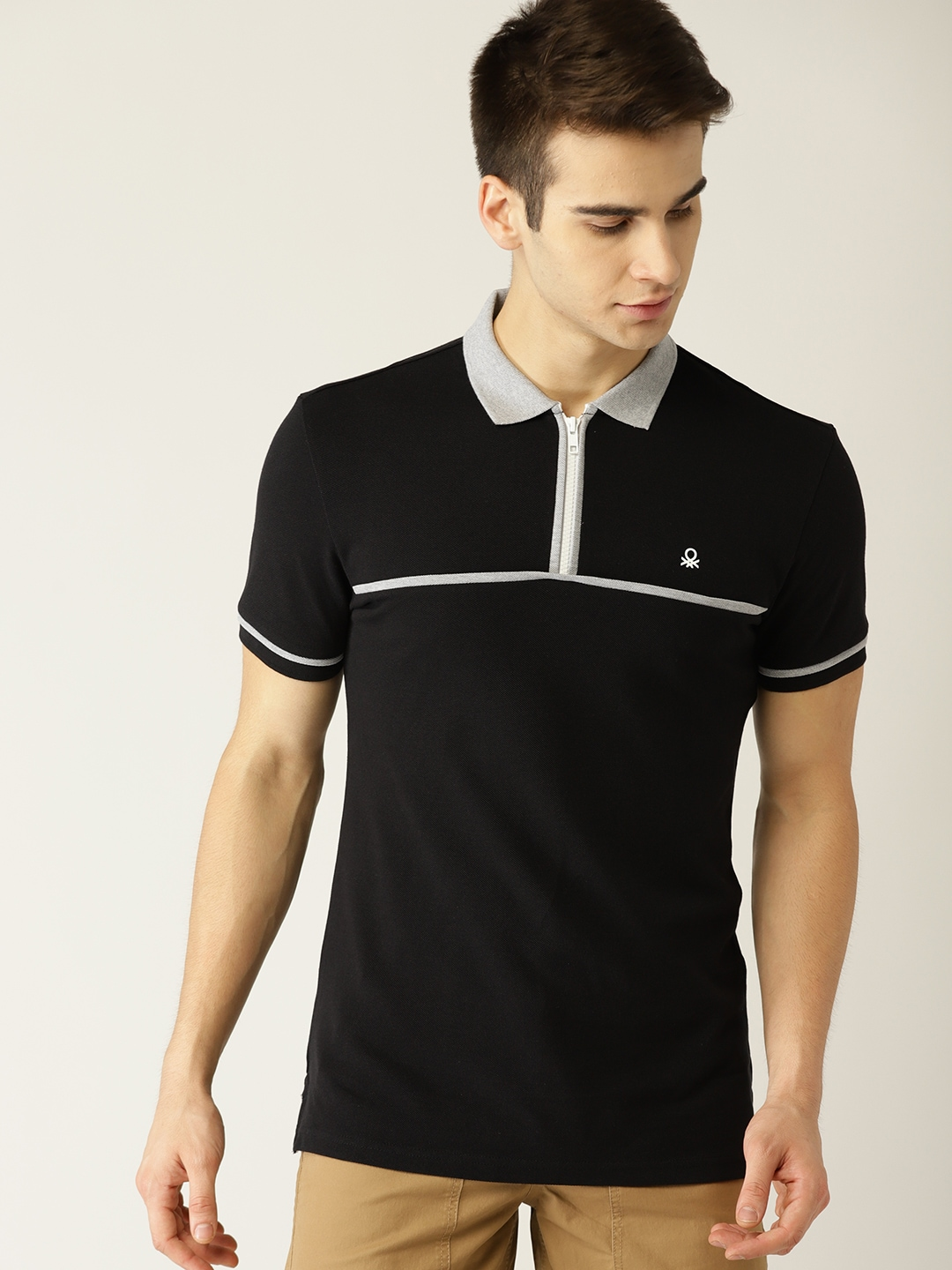 a46186508 United Colors Of Benetton Black Tshirts - Buy United Colors Of Benetton  Black Tshirts Online in India
