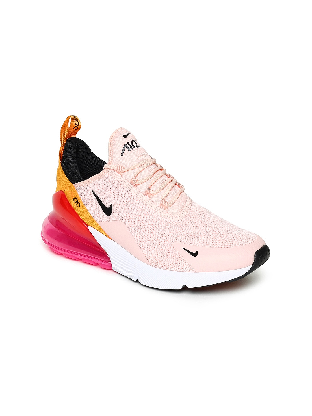 the latest 1540a 05cf6 Nike Women Pink & Orange AIR MAX 270 Sneakers